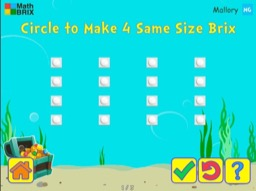 Add arrays of 1's up to 5x5 Math Game
