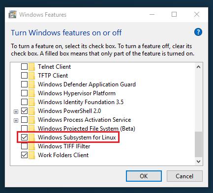 Enable WSL on Windows