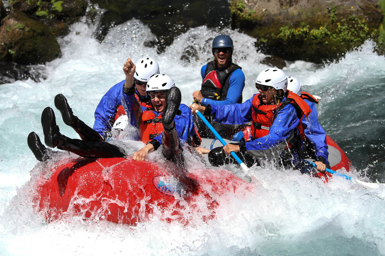 White salmon river rafting.