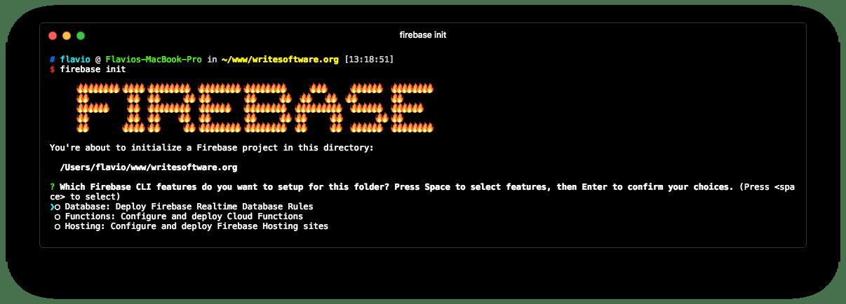 Firebase initialized