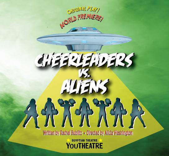 Poster for CHEERLEADERS VS. ALIENS.