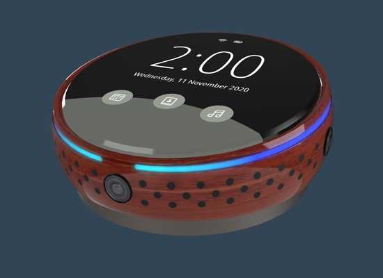 PBR materials rendered on an mock product electronic device.