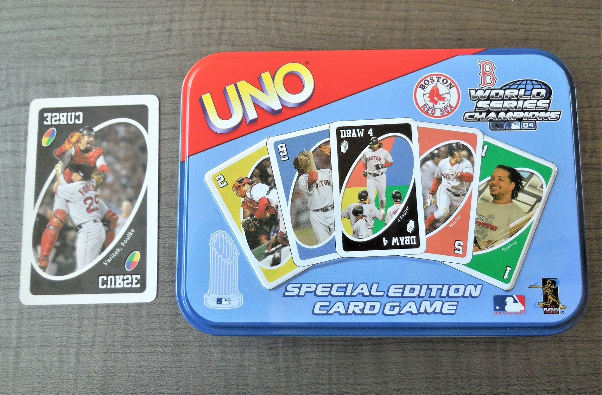 Red Sox Wold Series Champions 2004 Uno Card Game