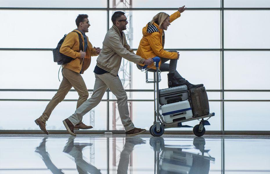 Passengers in terminal