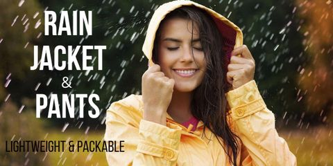 Whether you want to take a long walk in the rain, go running, hiking, or camping, these are best rain jacket and pants to protect from rain and cold wind.