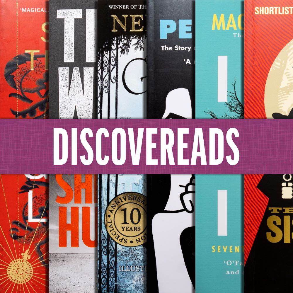 Composite image of the six books in the Discovereads promotion