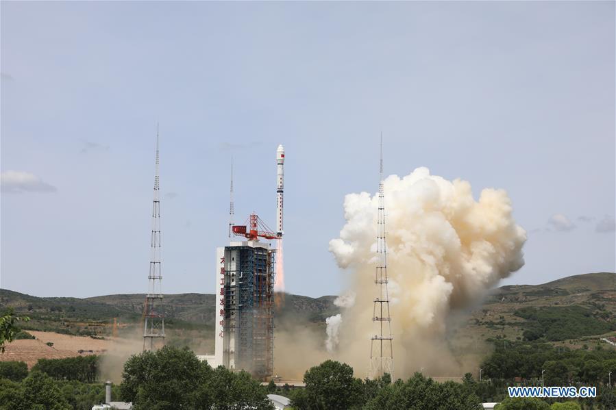 Figure 1: Racheta Changzheng-4B, urcând pe orbită satelitul Gaofen, de la centrul spațial Taiyuan (Sursa foto: Xinhua)