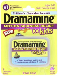 Dramamine Motion Sickness Relief for Kids, Grape Flavor