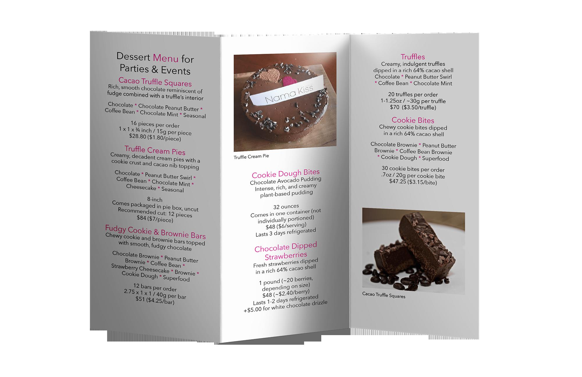 back of brochure