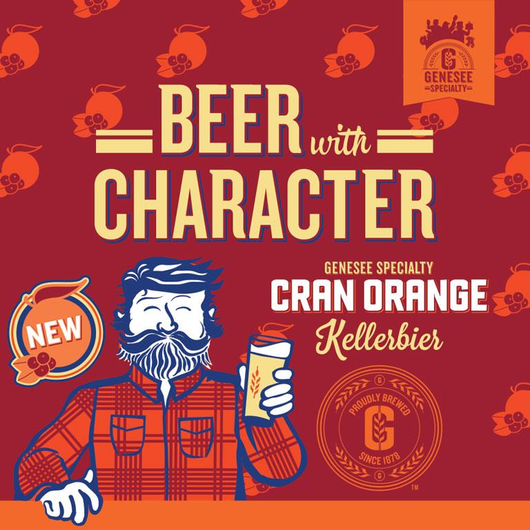 New Genesee Specialty Cran Orange Kellerbier!