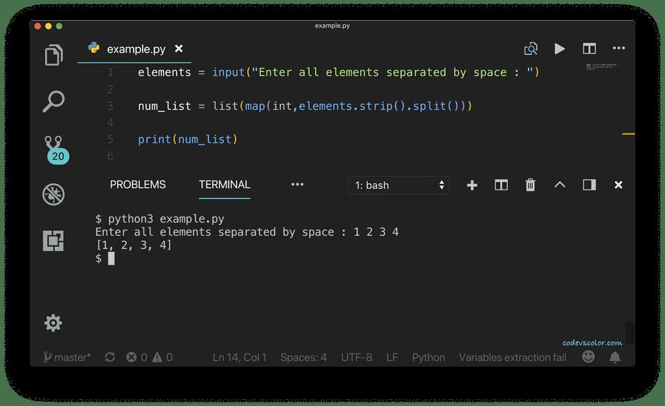 python get list as input