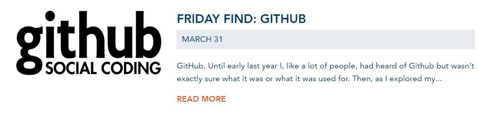 Github blog