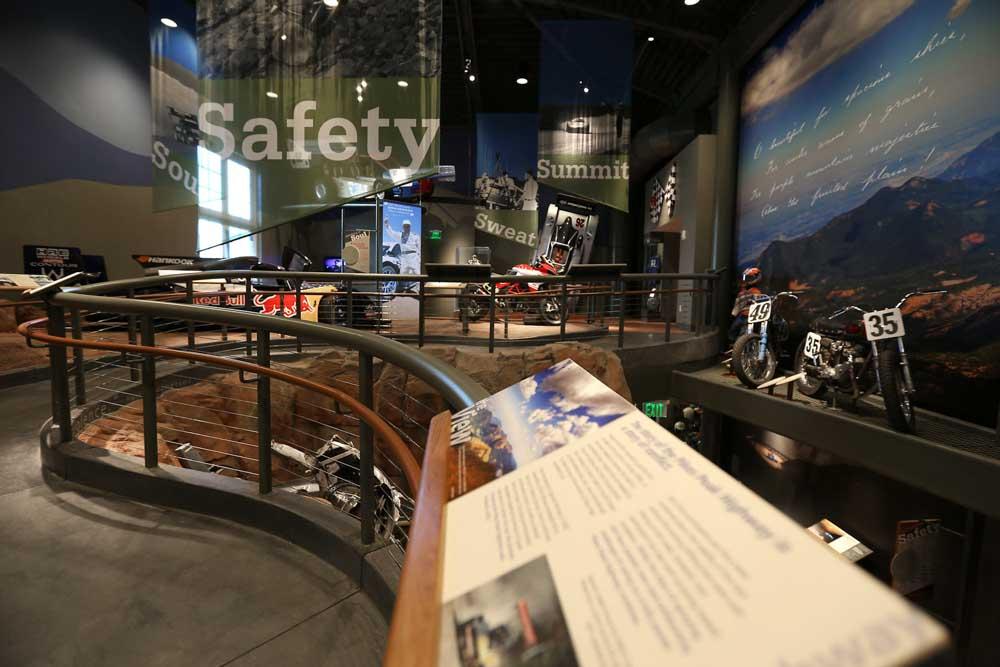 Pikes Peak Hill Climb Experience Museum reader rail