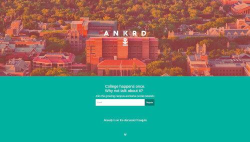 Ankrd homepage