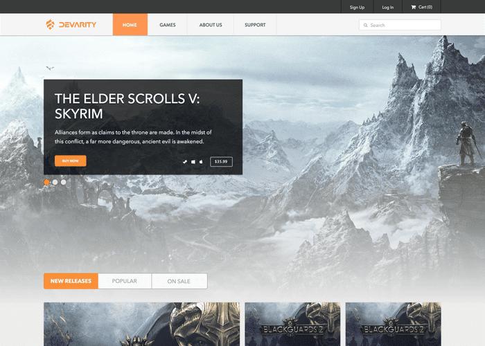 Devarity Game Store screenshot
