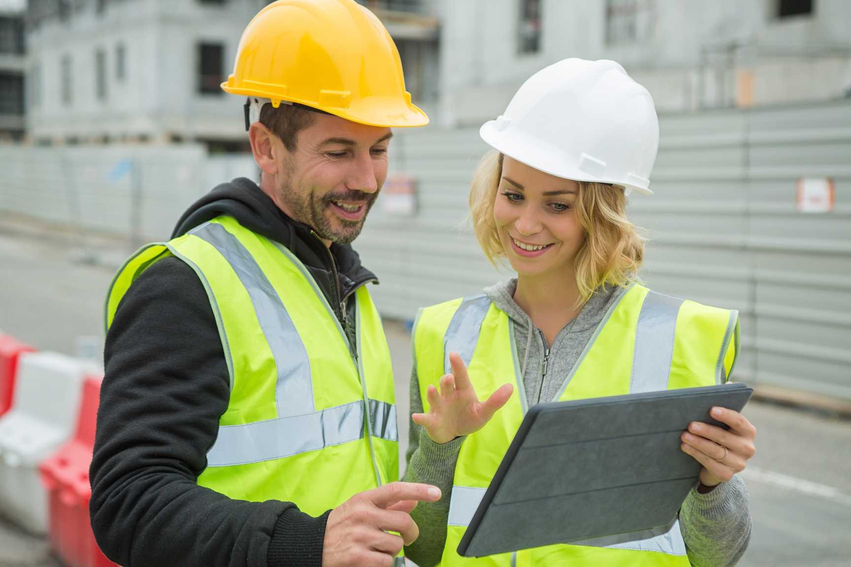 Befaring på byggeplass