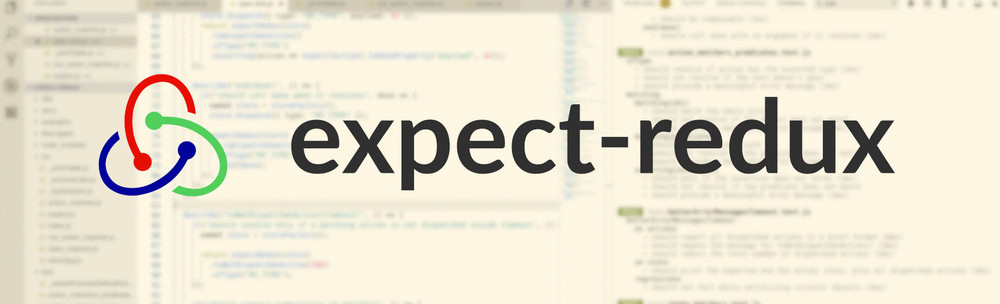 The logo of expect-redux