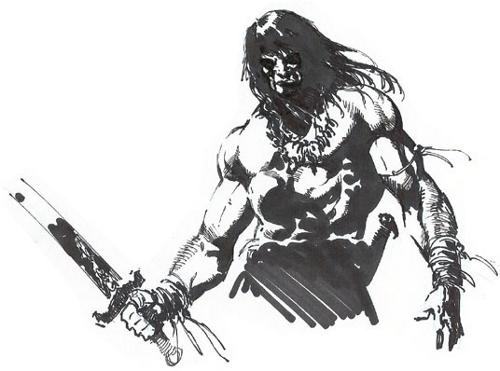 Barbarian Warrior Sketch