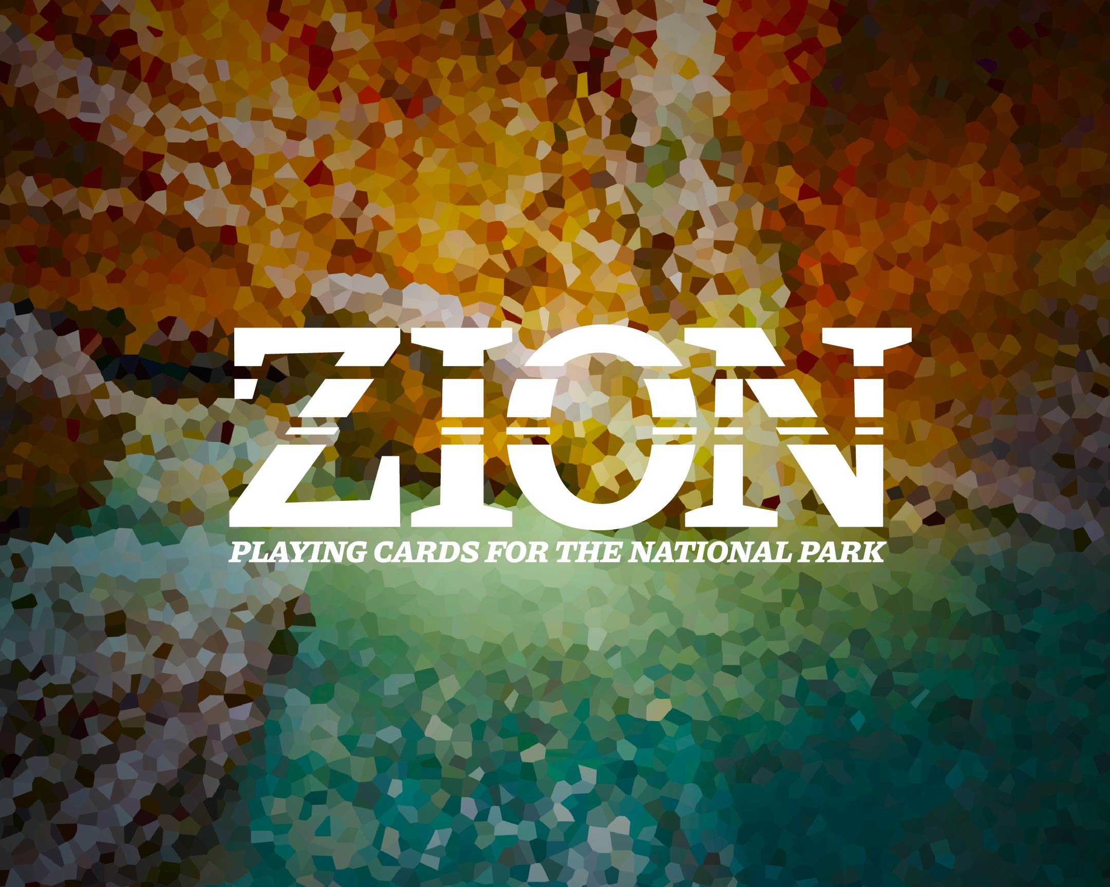 A colorful flat design featuring colors found in Zion National Park.