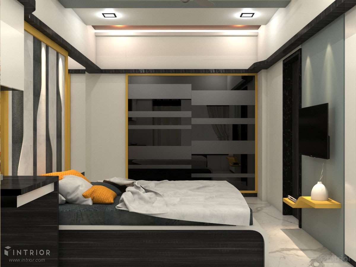 Sliding Wardrobe with glass shutters
