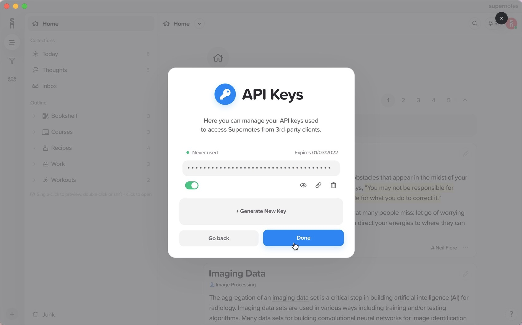API and Integrations  Supernotes