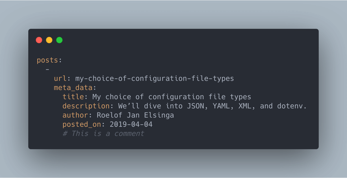 Configuration in YAML