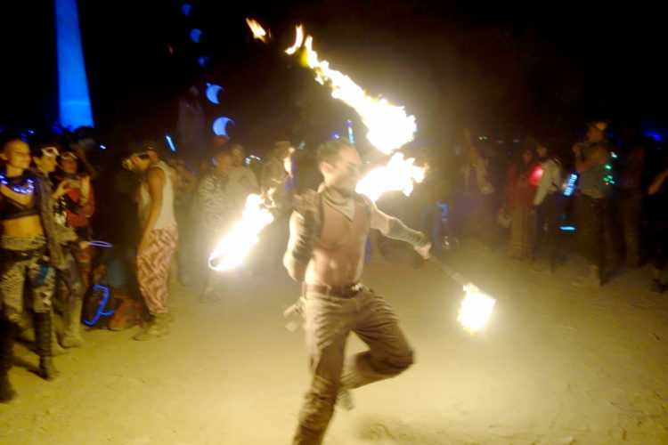 Burning Man Male Firedancer