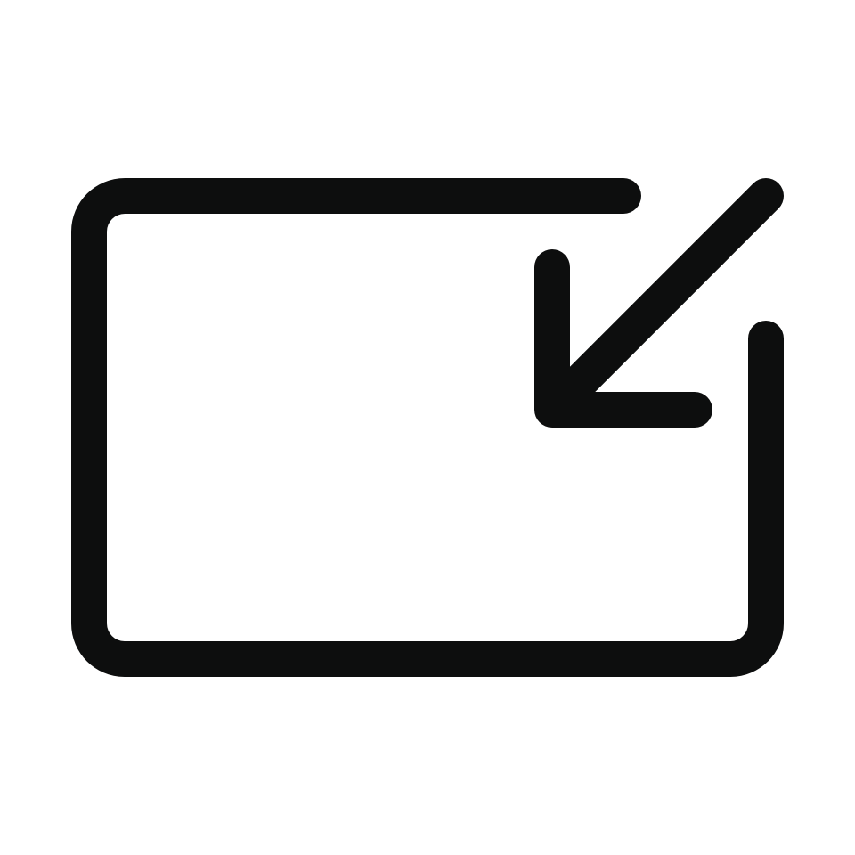Arrow fullscreen box exit