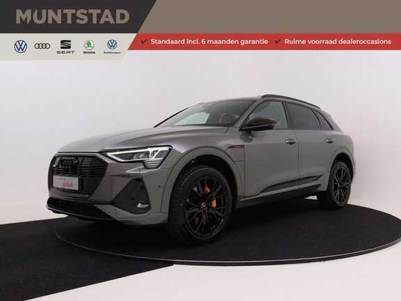 Audi e-tron 55 quattro S edition 503PK | Incl. BTW | Black Edition | Chronosgrijs | Sportstoelen | S-Line | Camera | Privacy Glass | Elekt. kofferklep |