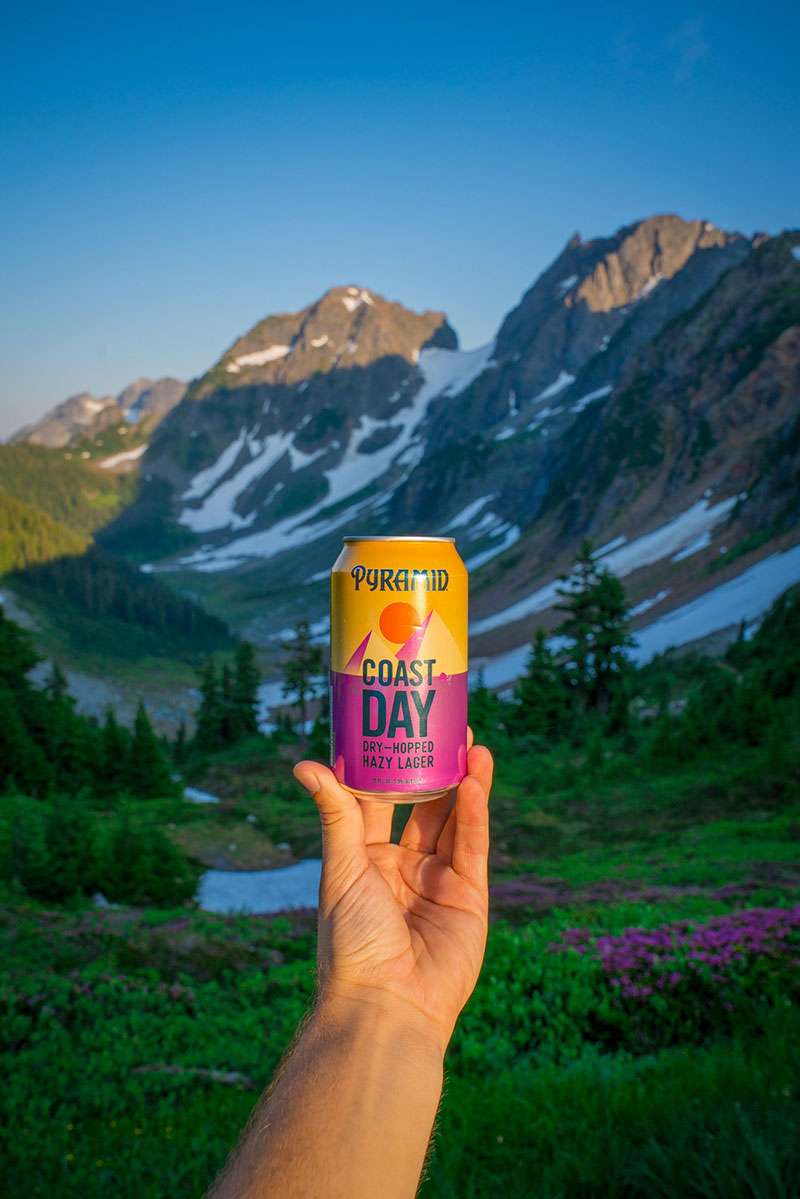 Pyramid Brewing Coast Day Hazy Lager craft beer at North Cascades National Park