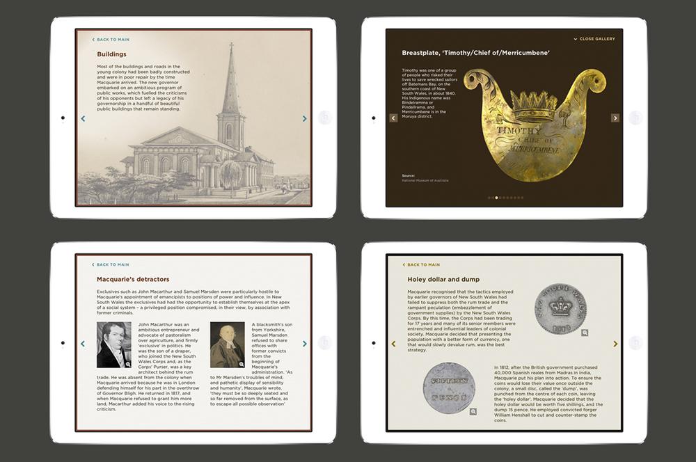 Screenshot of the iPad interactives