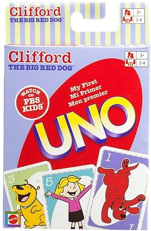 Clifford the Big Red Dog My First Uno