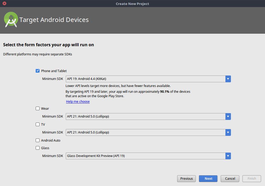 Minimum SDK Proyek Android