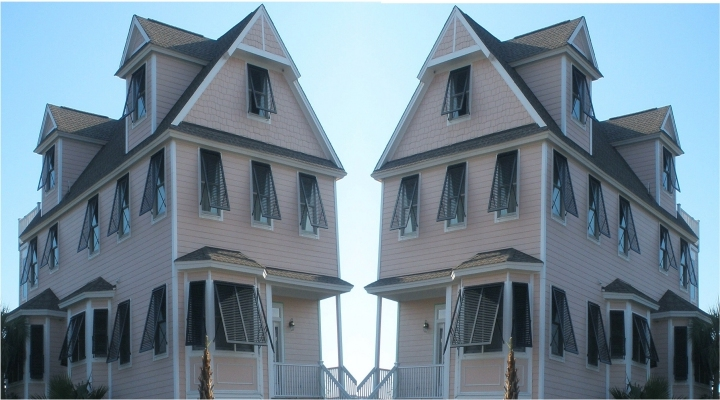Bahama Shutters provide excellent privacy and protection from the sun and heat