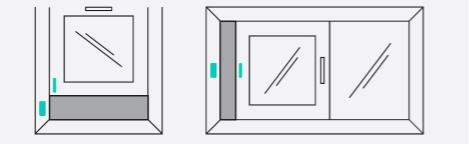 window sensor correct position