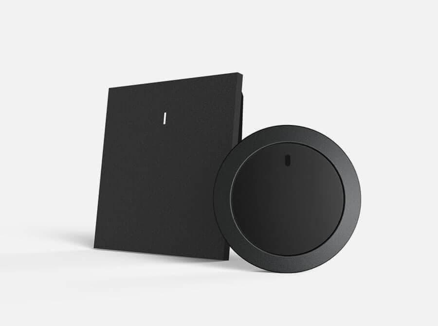 Nuimo Hub black und Nuimo Control black zusammen stehend