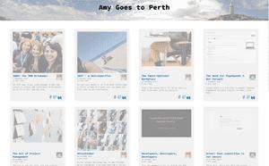 Desktop screenshot of Amy Goes to Perth