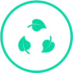 Oznaka za recikliranje koja simbolizira ekološki pristup poizvodnji uz korištenje biorazgradivih sastojaka.