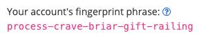 Sample Fingerprint Phrase