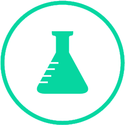 Laboratorijska bočica koja simbolizira boolab korištenje sigurnih sastojaka uz strogo izbjegavanje parabena i ostalih otrovnih sirovina.
