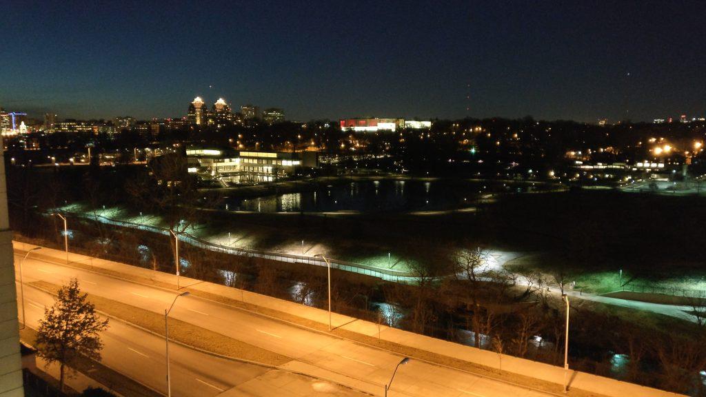 View of Kansas City at night