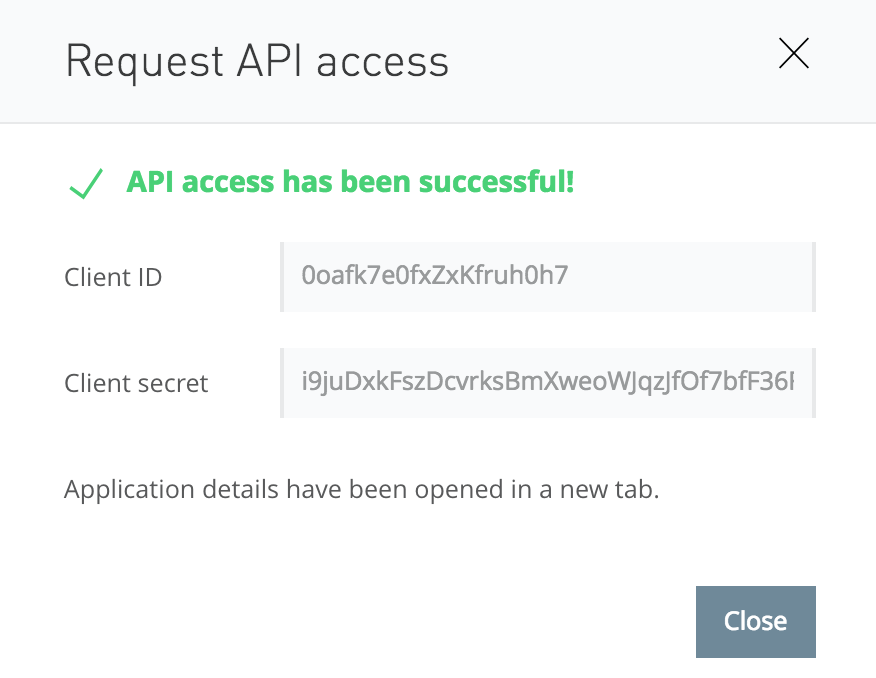 Mulesoft Request API Access Successful