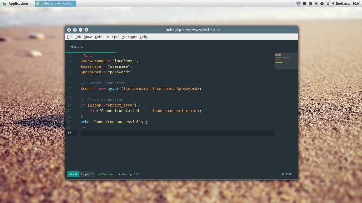 Cara install Atom text editor pada Linux