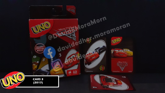 Cars 3 Uno Card Game