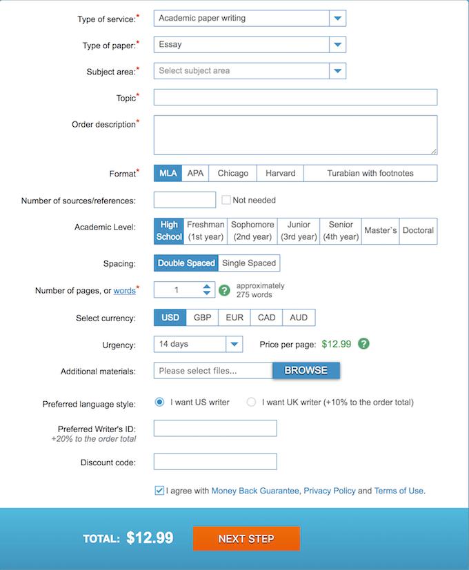 essaythinker.com order form