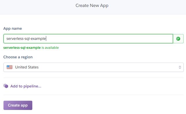 Creating the Heroku app