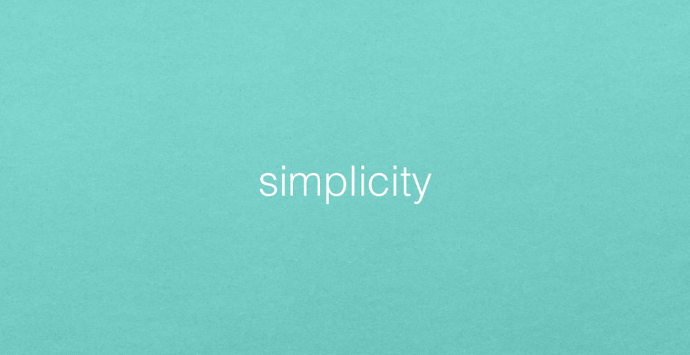 Simplicity on a blue background