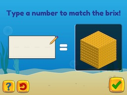 Brix and Base 10: Numbers 100 to 900 are made up of a number of 100's Math Game