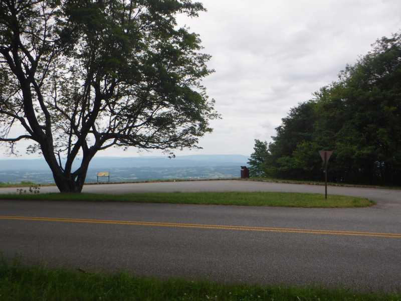 Blue Ridge Parkway parking lot
