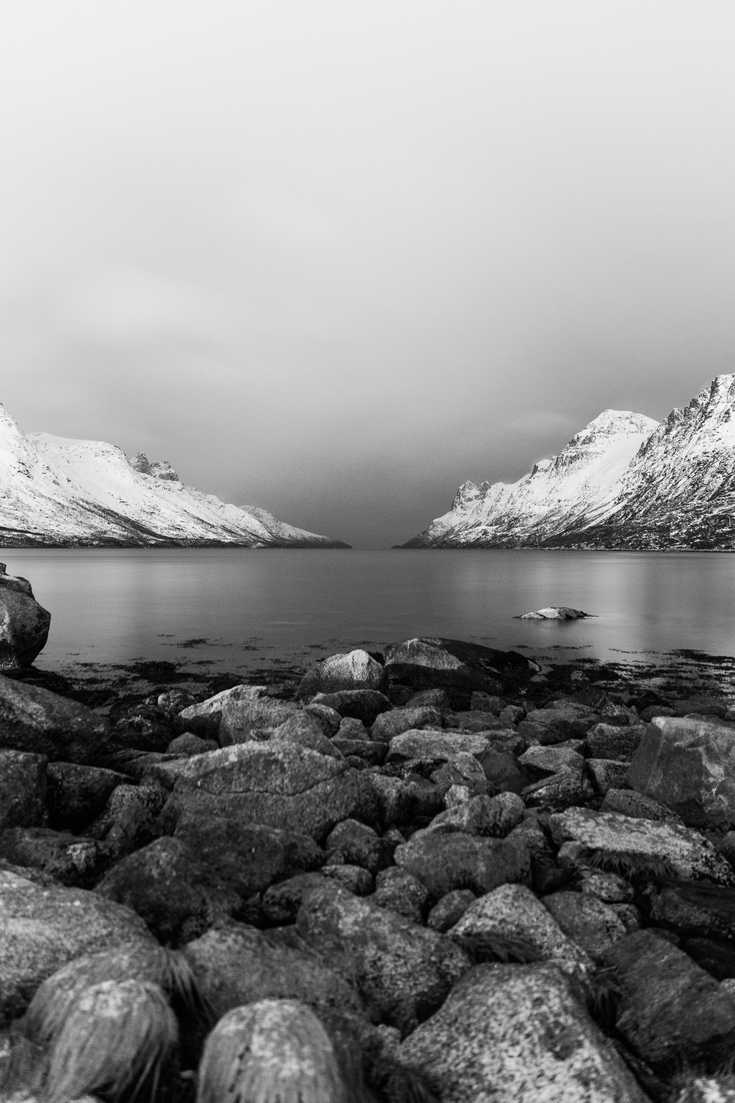 Black and white fjords